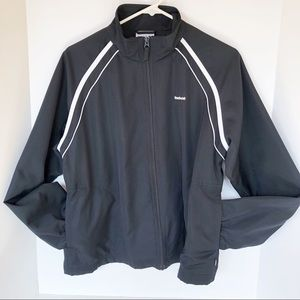Reebok Black Windbreaker Vintage Jacket Sz Large